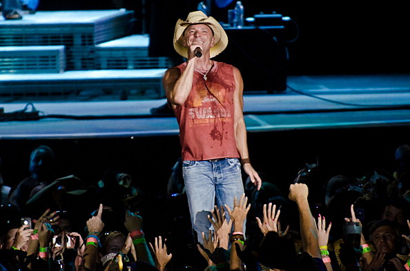 Kenny Chesney performs on stage Brothers of the Sun 2012 tour.