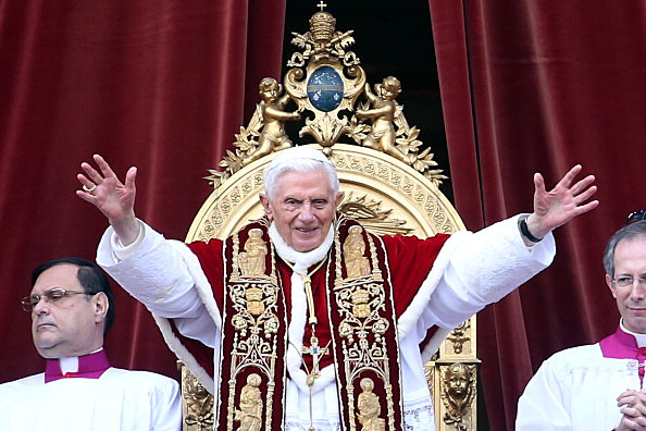 Pope Benedict XVI Delivers His Urbi Et Orbi Blessing