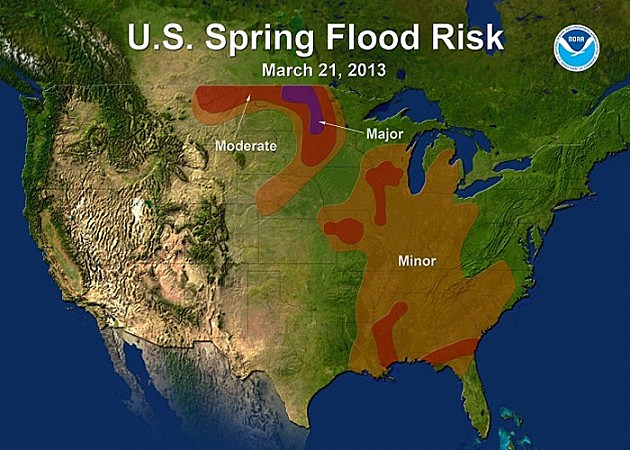 NOAA Flooding Risk 2013