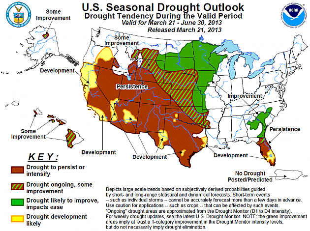 NOAA Seasonal Drought