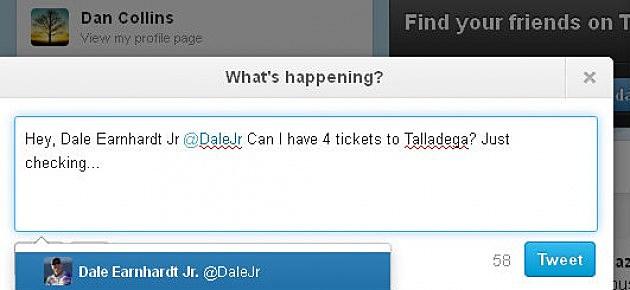 Twitter @DaleJr