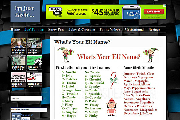 Elf name screenshot