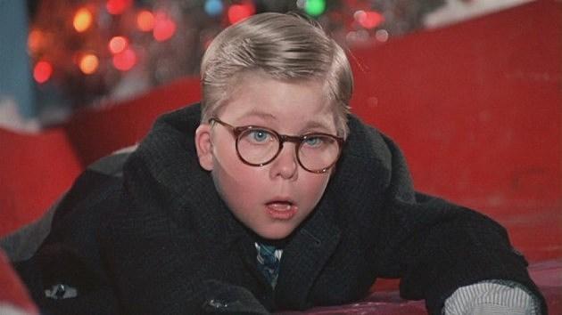 Ralphie Visiting Santa