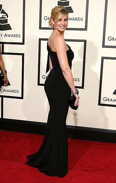 Singer Faith Hill arrives at the 50th annual Grammy awards held at the Staples Center on February 10, 2008 in Los Angeles, California.