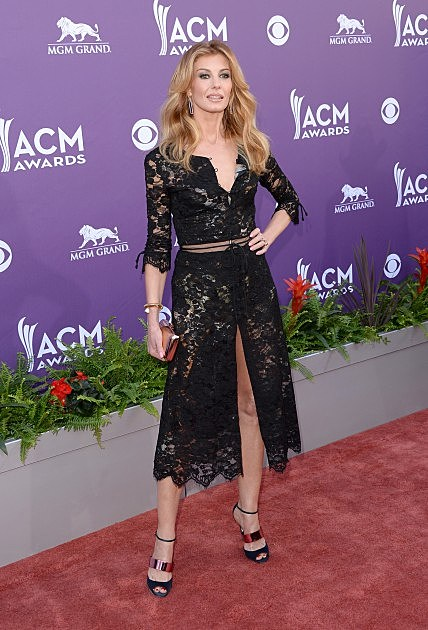 Singer Faith Hill attends the 48th Annual Academy of Country Music Awards at the MGM Grand Garden Arena on April 7, 2013 in Las Vegas, Nevada.