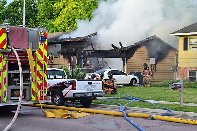 house fire at 4213 S. Holbrook in Sioux Falls