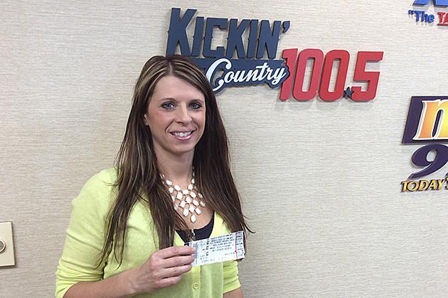 Sarah Erdmann, Florida Georgia Line Ticket Winner