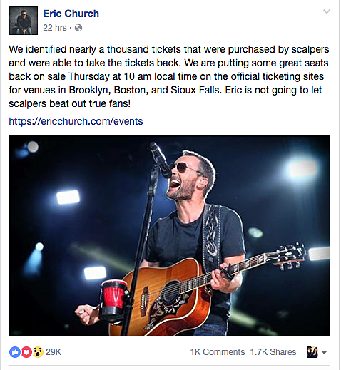 Facebook / Eric Church