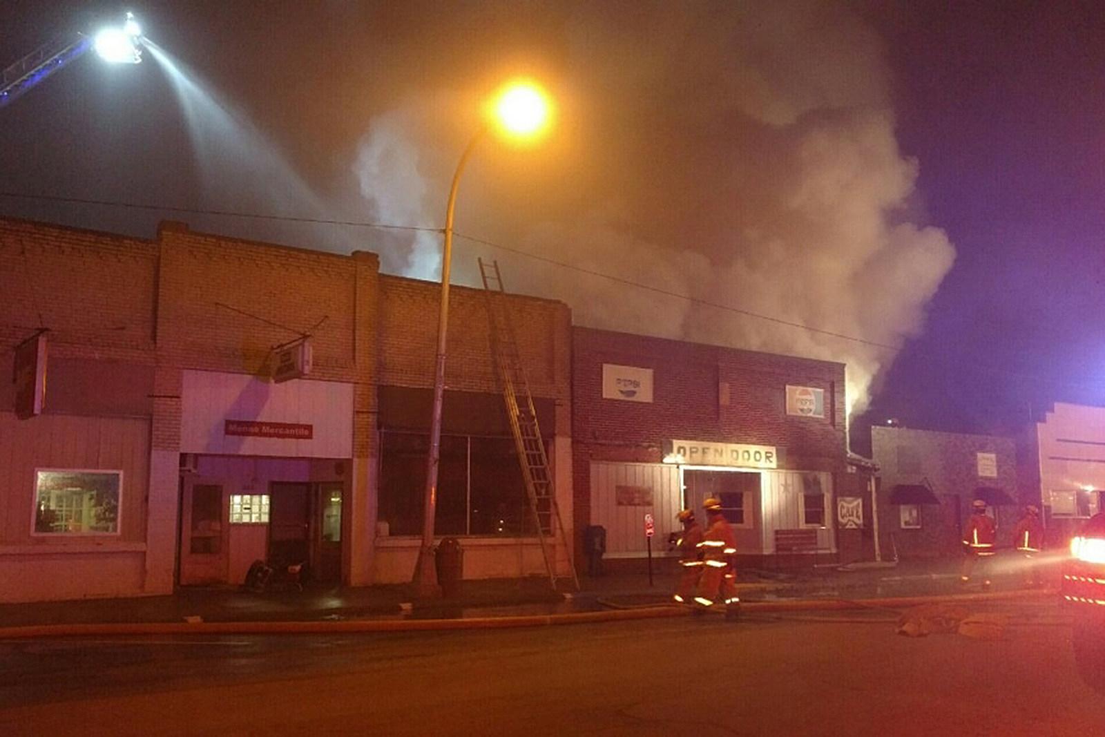 Fire at Open Door Cafe, Menno